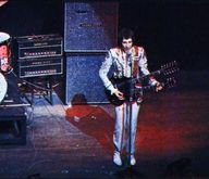 Pete Townsend - The Who. At the Saville Theatre, London, 22 Oct. 1967, with Gibson SG EDS-1275 double-neck. Amps are Sound City.