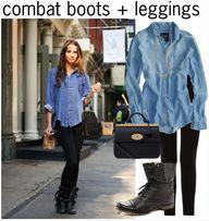 Combat Boots + Leggi