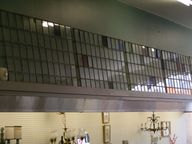 Wall of leaded glass