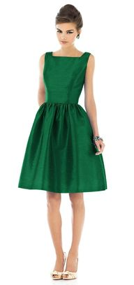 """Retro Emerald Dress"