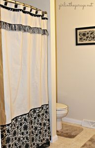 DIY shower curtain f