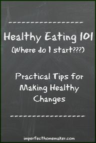 Healthy Eating 101: