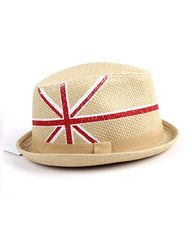 Union Jack Retro Straw Fedora Hat from Chicnova