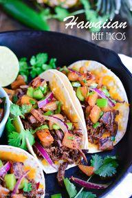 Hawaiian Beef Tacos
