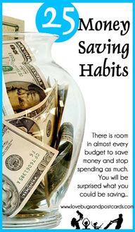 25 Money Saving Habi