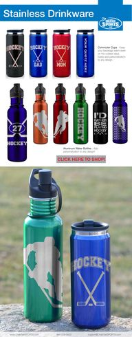 Hockey water bottles