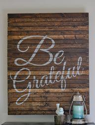 Be Grateful Pallet A