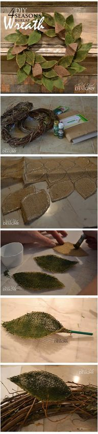 DIY Burlap 4 Seasons