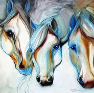 3 WILD HORSES in ABS
