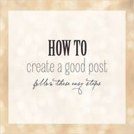 how to create a good