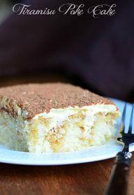 Tiramisu Poke Cake |