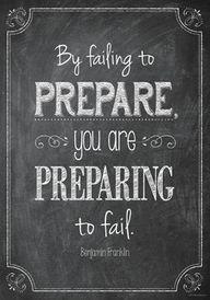 By failing to prepar...