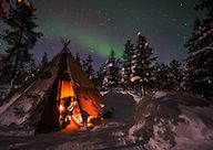 Northern Lights abov