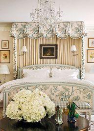 Floral upholstered b