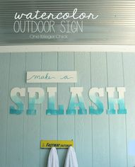SPLASH Outdoor Sign