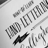 hand-lettering via @