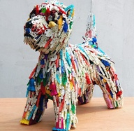 Recycled pegs sculpt