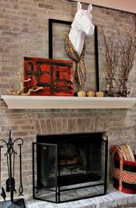 fall mantel - love t