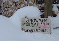 Winter fun :) Snowma