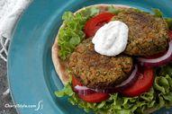 Homemade baked falaf