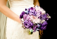 Purple Wedding Bouqu