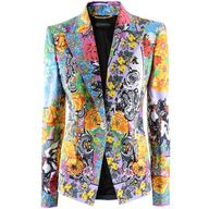 #My date wears this.... Versace Fuchsia Multi Print Blazer found on Polyvore  Prom Perfect #2dayslook #PromPerfect #sunayildirim #anoukblokker  www.2dayslook.com