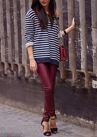stripes and oxblood...
