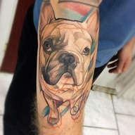 French bulldog Tatto