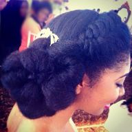 Natural Hair Bride #