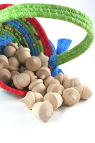 24 Wood Acorns  DIY