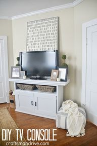 DIY TV Console from