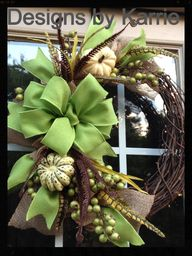 Fall wreath for my h