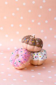 DIY Donut Pumpkins #