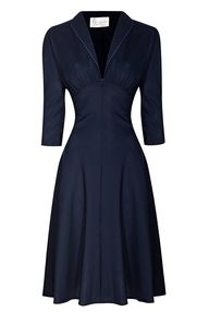 1940's style dress.