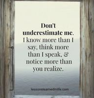 Don't underestimate