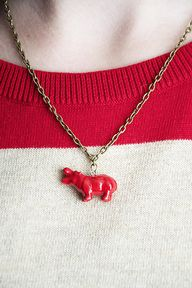 DIY Hippo Necklace w
