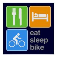 Eat Sleep Bike Poste