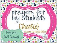 I believe in prayer.