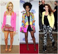Neon blazer on Katrina Bowden Solange Knowles Kristen Stewart