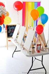 Art themed birthday