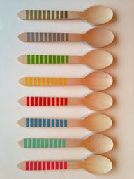 Wooden Party Spoons
