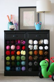 Wine rack yarn stora