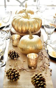 Golden pumpkin cente
