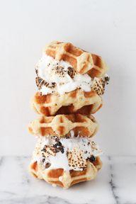 Marshmallow. Waffle.