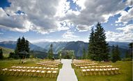 Aspen wedding aisle