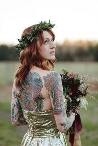 <3 tattoos-gold-dres