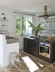 a small kitchen with