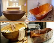 Wooden tubs and basi