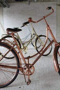 retro copper bicycle