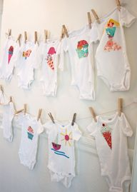 baby shower craft: making onesies